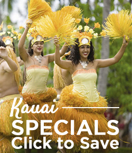 Special Deals for Kauai Resort Vacations in Hawaii from Pahio and Wyndham Extra Holidays